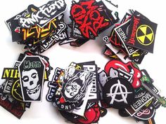 25 pcs Iron on Patch Wholesale Band Badge Sew Rock Heavy Metal Music toppe toppa #Unbranded