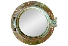 1920s Brass Porthole Mirror on OneKingsLane.com