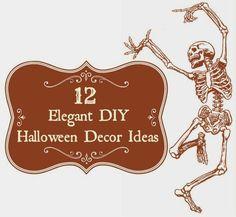 12 elegant diy vintage and shabby chic Halloween decor ideas via Va-Voom Vintage