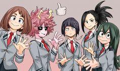 Anime My Hero Academia  Boku no Hero Academia Tsuyu Asui Momo Yaoyorozu Kyoka Jiro Toru Hagakure Mina Ashido Ochako Uraraka Fondo de Pantalla