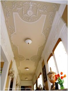 . Luxury Home Decor, Luxury Homes, Ceiling Painting, Classic Ceiling, Grisaille, Interior Painting, Mural Art, Ceiling Design, Entryway Decor