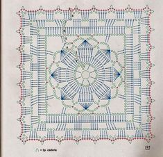 Several crochet square diagrams