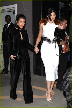 Kylie Jenner Joins Mom & Sisters at Ouai Haircare Launch Event: Photo #924784. Kylie Jenner holds hands with her sister Kourtney Kardashian as they leave the Ouai Haircare Launch Event on Thursday (February 4) in West Hollywood, Calif.    The…