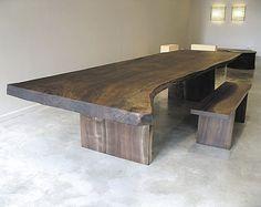 mesa moderna de madera reutilizada CLARO WALNUT Hudson Furniture