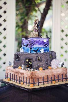 Haunted house wedding cake
