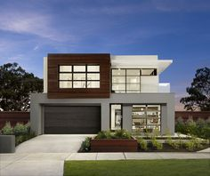 MOJO Homes are NSW's most exciting home builders with a stunning range of new home designs & an innovative building experience you'll treasure for life. Two Storey House Plans, Double Storey House, Dream Home Design, Modern House Design, Facade Design, Architecture Design, Storey Homes, Boutique Homes, New Home Builders