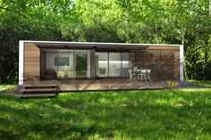Prefab homes kits that sustainable and affordable. Find modern prefab / prefabricated modular homes plans / designs / ideas eco-friendly here. Container Home Designs, Container Homes For Sale, 20ft Container, Container Houses, Container Cabin, Cargo Container, Container Gardening, Modern Prefab Homes, Prefabricated Houses