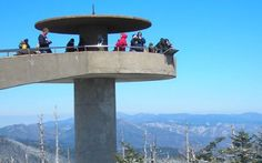 Things to do in the Smoky Mountains: Clingmans Dome. At 6,643 feet, Clingmans Dome is Great Smoky Mountains National Park's highest point. #tnvacation