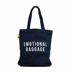 This tote bag by The School of Life celebrates one of the most glamorous projects any of us can undertake: learning how to carry our emotional baggage well. Tote Backpack, Tote Purse, Tote Handbags, Cotton Tote Bags, Reusable Tote Bags, White Handbag, White Purses, Tote Pattern, Beautiful Handbags