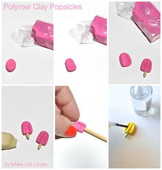 Polymer clay popsicles | by Make Life Lovely