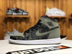 a9d08d3952a Air Jordan 1 High AJ1 Black Camouflage white AA3993 034 Mens Womens  Sneakers Cheap Jordans,