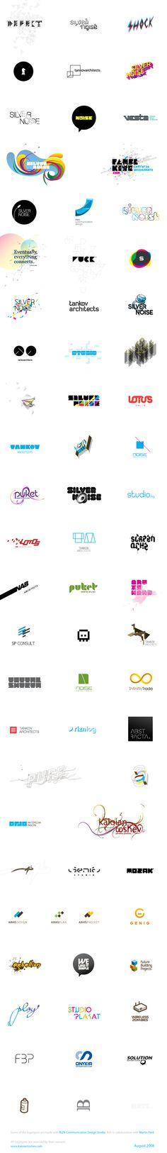 Logos & Logotypes by Kaloian Toshev, via Behance