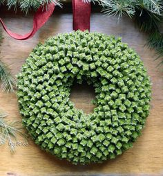 Succulent Wreath - made of dwarf-pagoda crassulas - Flora Grubb Gardens