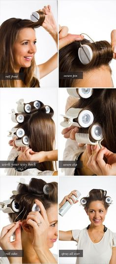 hair rollers, curling hair with rollers, curling hair with curling iron, hair makeup, curl iron