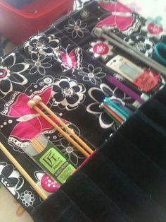 Upcycled Knitting Needle Case