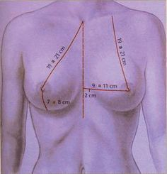 Measuring distances between the bust and chest . Clothing Patterns, Dress Patterns, Sewing Patterns, Techniques Couture, Sewing Techniques, Sewing Clothes, Diy Clothes, Sewing Hacks, Sewing Tutorials