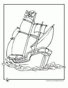 Pirátská loď Coloring Page 2