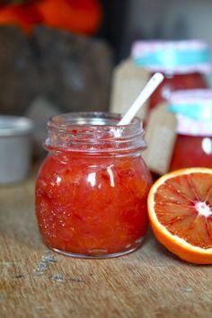 Marmellata di arance, zenzero e lavanda, Orange, ginger and lavander marmalade