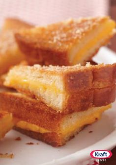 Ultimate Crispy Grilled Cheese Sandwiches — You may never make regular grilled cheese sandwiches again after you make them the Ultimate Crispy way—sprinkled with Parmesan and baked until golden.