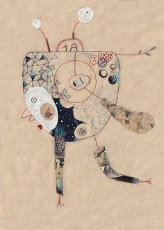 Kunstdruck A4 Illustration  imaginäre Bestiarium  von 2Hands2Tails