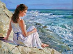 # Vladimir Volegov # even as a young girl.... I would sit on the rocks and write in my journal or read my books....