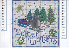 Point de croix : ❤️*❤️ cross stitch... Winter