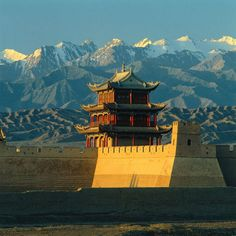 China. 'Grand Tower & Gobi Desert', Gansu.   * Breathtaking view!