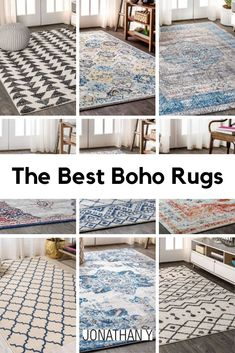 """Rugs are often described as """"art for your floors"""" and these modern boho rugs are masterpieces. #JonathanY #BohoRug #HomeDecor Home Decor Trends, Diy Home Decor, Boho Rugs, Home Board, Light Installation, Modern Boho, Boho Style, Color Inspiration, Decor Styles"""