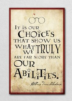 Albus Dumbledore inspirational quote 11x17 print @Etsy harry potter nursery art decor by NerdyKittenDesigns, $7.00 I want!