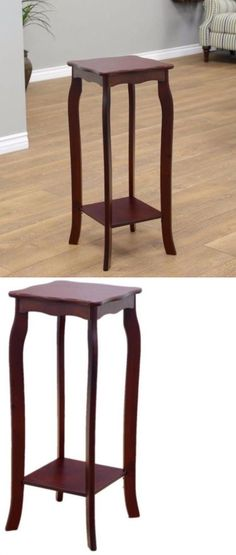 Plant Stands 29514: Indoor Sturdy Plant Stand Telephone Table Home  Furniture Walnut Finish  U003e
