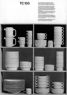 designed by Hans (Nick) Roericht in 1959 for his thesis project at the HfG school of design in Ulm, Germany. Bauhaus Design, Bauhaus Style, 3d Modelle, Design Art, Graphic Design, Ceramic Clay, Chair Design, Industrial Design, Decoration
