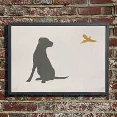 LABRADOR AND PHEASANT-unframed- FREE WORLDWIDE DELIVERY (2016) Screenprint by Emma Evans-Freke | Artfinder