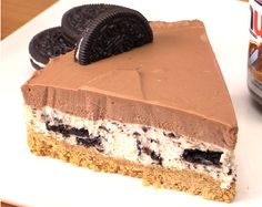 No Bake Nutella Oreo Cheesecake