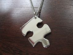 Silver Puzzle Edge Pendant by GorjessJewellery on Etsy