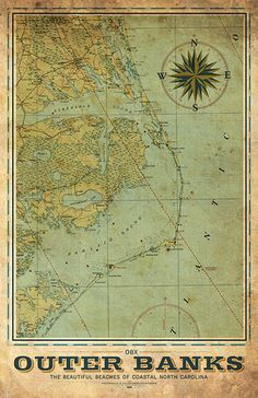 Outer Banks Vintage Remixed Map – I Lost My Dog