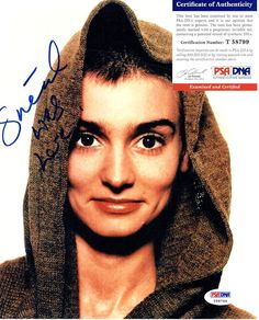 SINEAD O'CONNOR Signed 8x10 Photo (PSA/DNA) #T58799