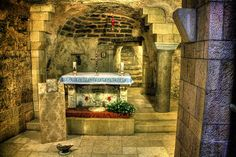 The Grotto of the Annunciation is believed to be the spot where virgin Mary received the annunciation from Angel Gabriel