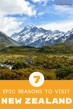 7 epic reasons you should add New Zealand to your bucket list. Unofficially dubbed the adventure capital of the world, New Zealand is known for its natural beauty, wide open spaces, world class wine and friendly locals. | Travel Dudes Travel Community