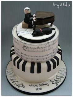 Musical Birthday Cake - by Arrayofcakes @ CakesDecor.com - cake decorating website