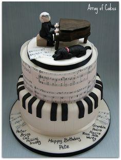 Musical Birthday Cake - by Arrayofcakes @ CakesDecor.com - cake decorating website