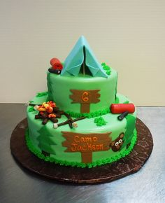 How to make a camping theme cake