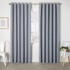 Franklin Mist - Readymade Triple-Weave Eyelet Curtain - Curtain Studio buy curtains online