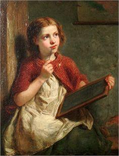 The Young Scholar - John Thomas Peele (american-19 th century)
