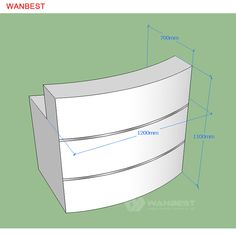The drawing of reception desk Curved Reception Desk, Reception Counter, Solid Surface, 3d, Drawing, Water, Shop, Home Decor, Gripe Water