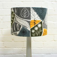 Winter's Moon — Vintage Seedhead Fabric Lampshade