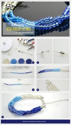 How to make bead jewelry patterns-seed bead bracelet instructions by wanting