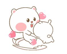 LINE Official Stickers - Sweet Marshmallow Couple 2 Example with GIF Animation Cute Couple Cartoon, Cute Cartoon Pictures, Cute Couple Art, Cute Love Cartoons, Cute Pictures, My Little Pony Stickers, Cute Stickers, Cute Wallpaper Backgrounds, Cute Wallpapers