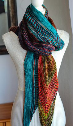 Knitting Patterns Scarves Ravelry: Project Gallery for Hot Line pattern by Cally Monster Crochet Hooded Scarf, Knit Or Crochet, Knitted Shawls, Crochet Scarves, Crochet Shawl, Knitting Scarves, Knitting Stitches, Knitting Designs, Knitting Projects