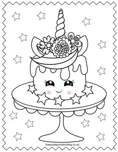 Cupcake Coloring Pages, Kids Printable Coloring Pages, Free Kids Coloring Pages, Unicorn Coloring Pages, Cartoon Coloring Pages, Disney Coloring Pages, Coloring Pages To Print, Coloring Book Pages, Coloring Pages For Kids