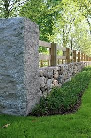 Resultado de imagen de farm stone and wood fences and gates
